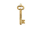 Brass Key Charm 8x25mm