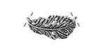 Zola Elements Antique Silver (plated) Feather Plume Focal Link 25x12mm