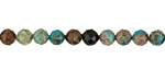 Chrysocolla Faceted Round 5.5-6mm