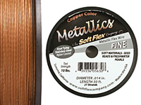 "Soft Flex Copper Metallic .014"" (Fine) 21 Strand Wire 30ft."