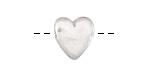 Pewter Heart Slide 14mm