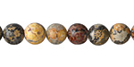 Leopardskin Jasper (Yellow) Round 8mm