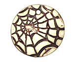 Earthenwood Studio Ceramic Spiderweb Pendant 35mm