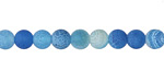 Sky Blue Fire Agate (matte) Round 6mm
