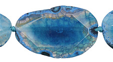 Sky Blue Line Agate Freeform Slice w/ Natural Edge 40-68x20-30mm