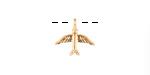 Zola Elements Matte Gold Finish Soaring Bird Charm 13x12mm