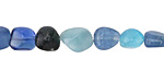 Sky Blue Agate Tumbled Nugget 6-8mm