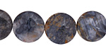 Blue Pietersite Puff Coin 15mm
