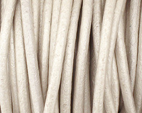 Pearl Round Leather Cord 2mm