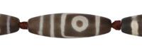 Tibetan (Dzi) Agate Matte Rice 38-40x14-15mm
