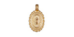 Zola Elements Matte Gold (plated) Southwest Concho Style Charm 10x19mm