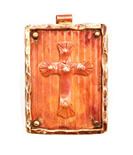 Patricia Healey Copper Cross in Frame Pendant 32x47mm