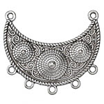Zola Elements Antique Silver (plated) Crescent w/ Mounds Focal Link 47x43mm