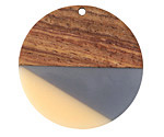 Walnut Wood & Zen Resin Coin Focal 38mm