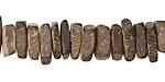 Dark Brown Coconut Shell Squaredelle 2.5-4.5x10-11mm