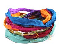 Jewel-tone 100% Silk Sari Ribbon