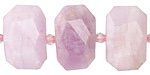 Kunzite Faceted Flat Slab 14-16x20-24mm