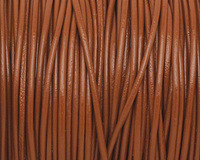 Light Brown Round Leather Cord 1.5mm