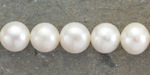 Pearly White Freshwater Semi-Round Pearl 10mm