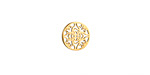 Gold (plated) Stainless Steel Star Dogwood Blossom Filigree Coin 10mm