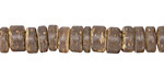 Dark Brown Coconut Shell Rondelle 2.5-4.5x8-8.5mm