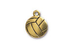 TierraCast Antique Gold (plated) Volleyball Charm 15.5x19mm