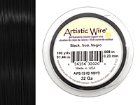 Artistic Wire Black 32 gauge, 100 yards
