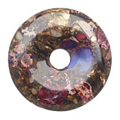 Purple Impression Jasper & Bronzite Donut 50mm