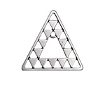 Zola Elements Antique Silver (plated) Concentric Triangle Focal Link 30x30mm