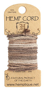 Earthy Hemp Twine 20 lb, 20 ft