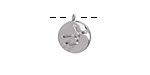 Rhodium (plated) w/ Crystals Virgo Constellation Charm 11x13mm