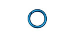 Blue Anodized Aluminum Jump Ring 14mm, 14 gauge (9.6mm inside diameter)