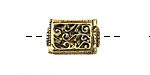 Zola Elements Antique Gold (plated) Vined Rectangle Focal Bead 18x12mm
