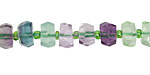 Rainbow Fluorite Faceted Wheel 4-6x6-9mm