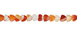 Carnelian (natural) Heart 4mm