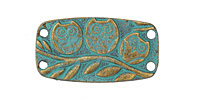 Zola Elements Patina Green Brass (plated) Perched Owls Focal Link 37x19mm