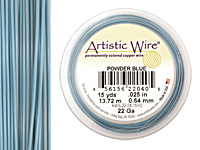Artistic Wire Powder Blue 22 gauge, 15 yards