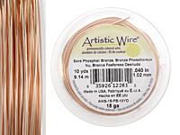 Artistic Wire Bare Phosphor Bronze 18 gauge, 10 yards