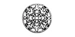 Zola Elements Antique Silver (plated) Mandala 7mm Flat Cord Slide 20mm