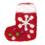 Red Felt Stocking 29x41mm