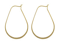 Nunn Design Antique Gold (plated) Small Oval Hoop Earwire 26x37mm