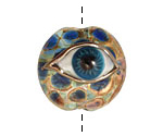 Grace Lampwork Blue Eyed Lentil 27-28mm