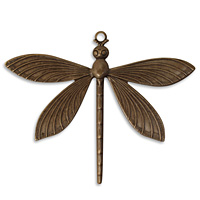 Vintaj Natural Brass Dragonfly Pendant 63x51mm