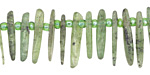 Green Kyanite Graduated Slice Drop 1-3x7-25mm