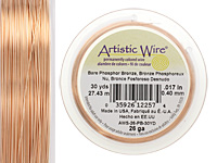 Artistic Wire Bare Phosphor Bronze 26 gauge, 30 yards