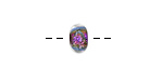 Grace Lampwork Amethyst Dichroic Rondelle 5x10mm