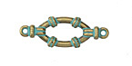 Zola Elements Patina Green Brass Nautical Oval Ring Link 30x10mm