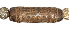 Soochow Jade Carved Barrel 59-62x18-22mm