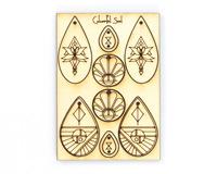 Vintaj Sacred Beauty Colourful Soul Wood Jewelry Pop Outs