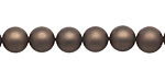 Chocolate (matte) Shell Pearl Round 8mm